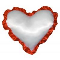 Подушка сердце с рюшей