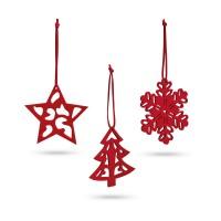DARIO Набор из 3 новогодних декораций
